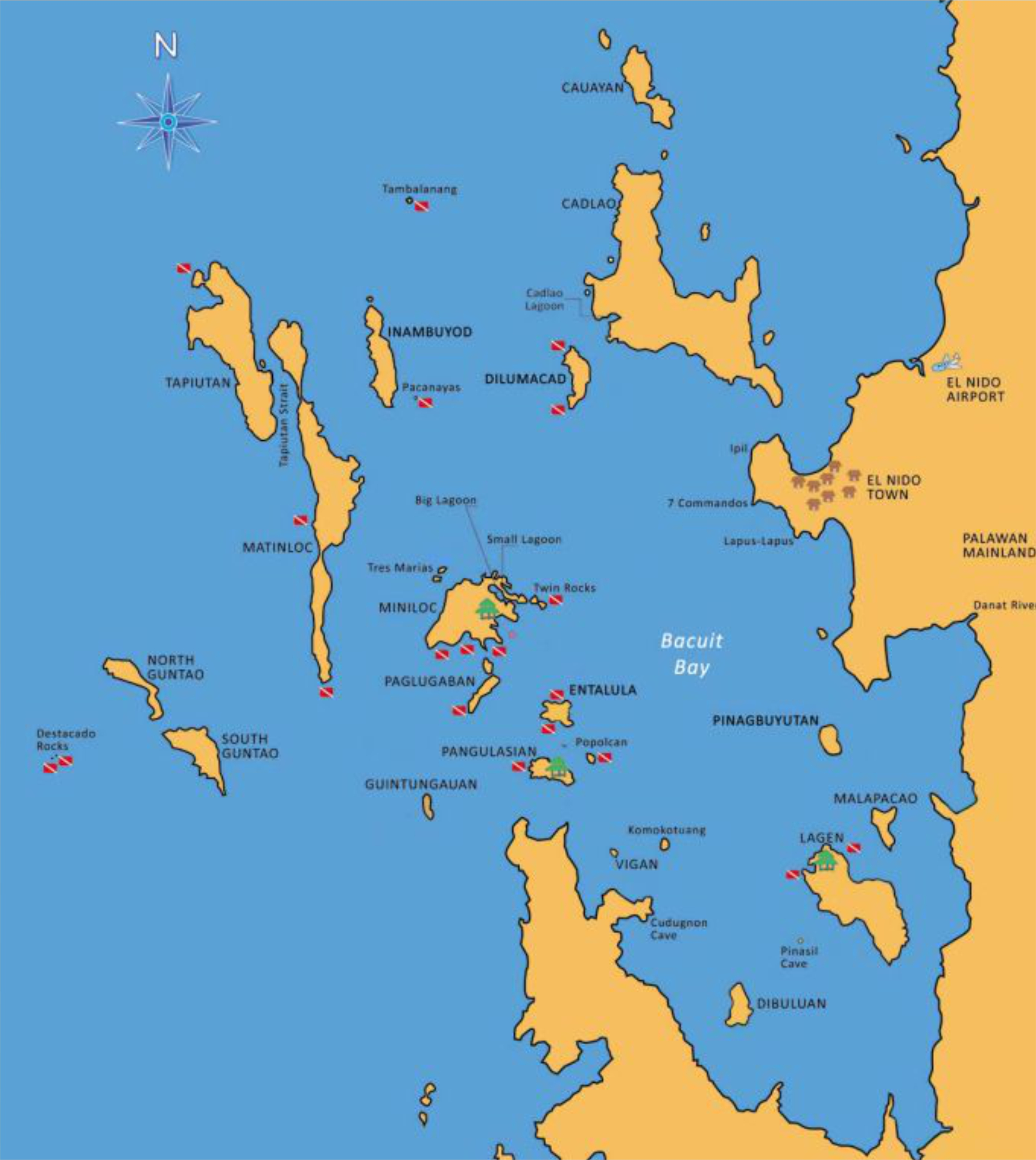 Bacuit Bay Map Diving